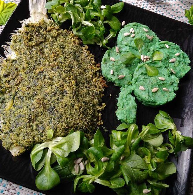 Saint Patrick Sole limande en croute d'herbes