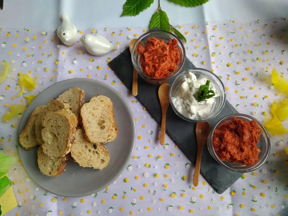 Rillettes de chorizo et crème ail ciboulette