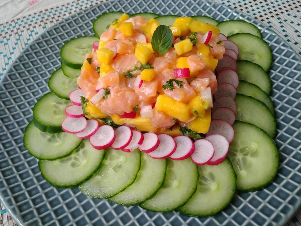 Tartare de saumon & mangue VIDÉO