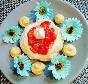 Tartelette meringue à la fraise