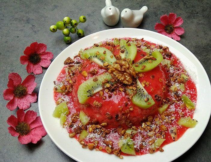 Bowlcake au coulis de fraises