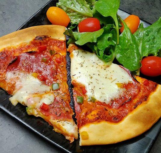 Pizza poivrons & chorizo