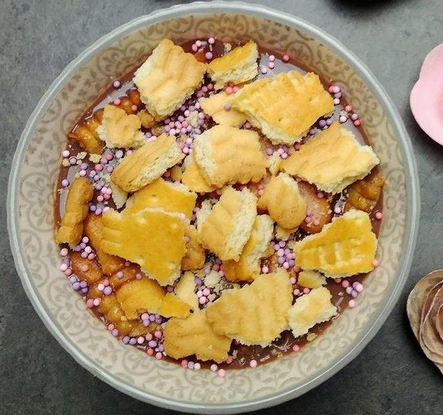 Flan au chocolat et petit beurre