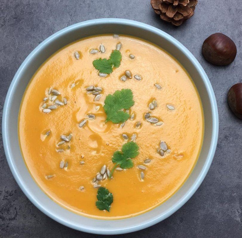 Soupe de carotte et lait de coco