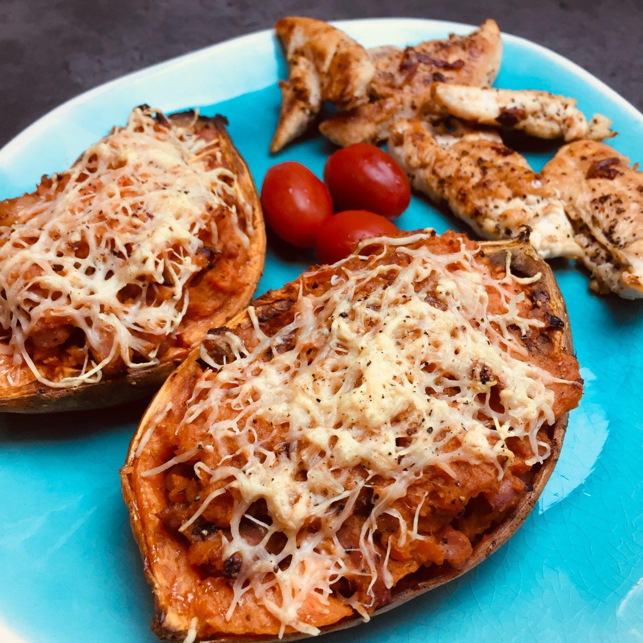 Patate douce gratinée