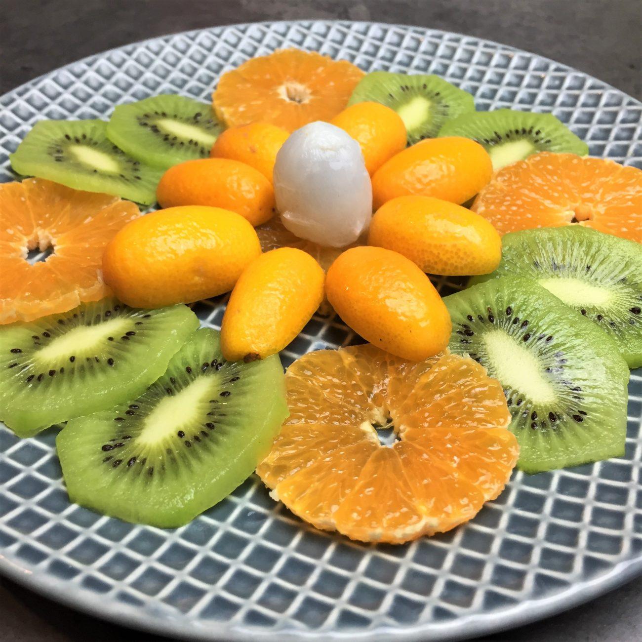 Carpaccio de fruits de saison