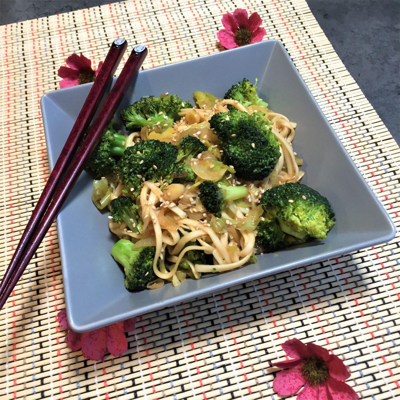 Nouilles et légumes façon asiatique