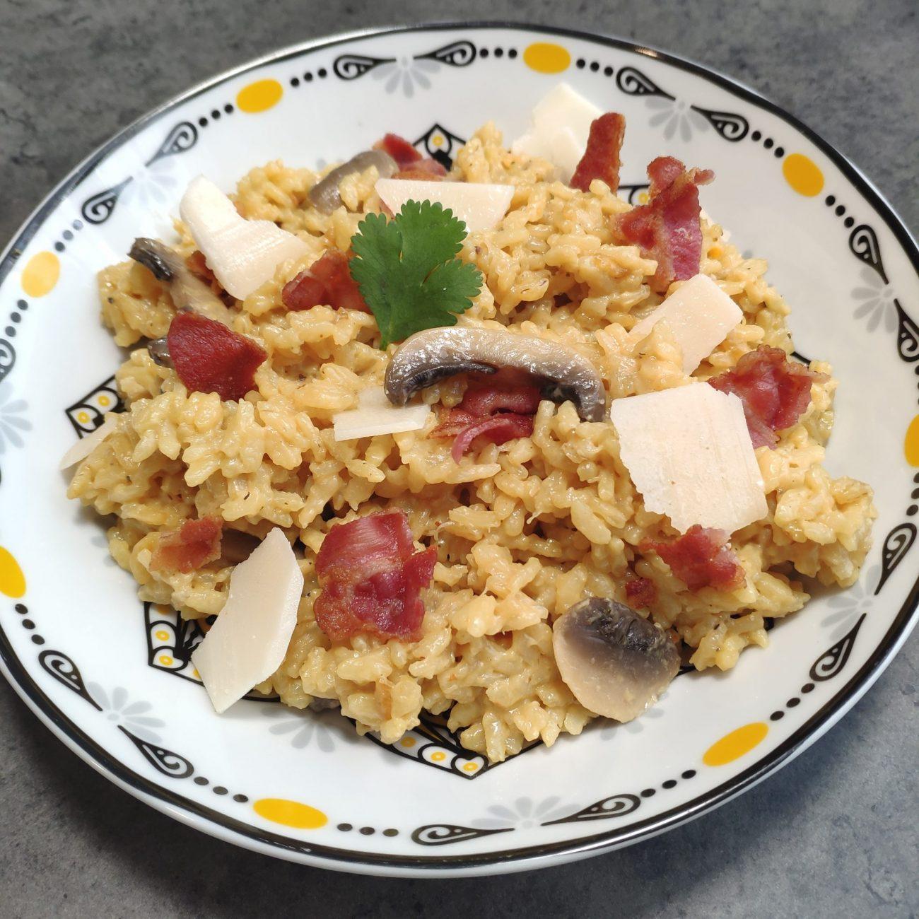 Risotto champignon bacon