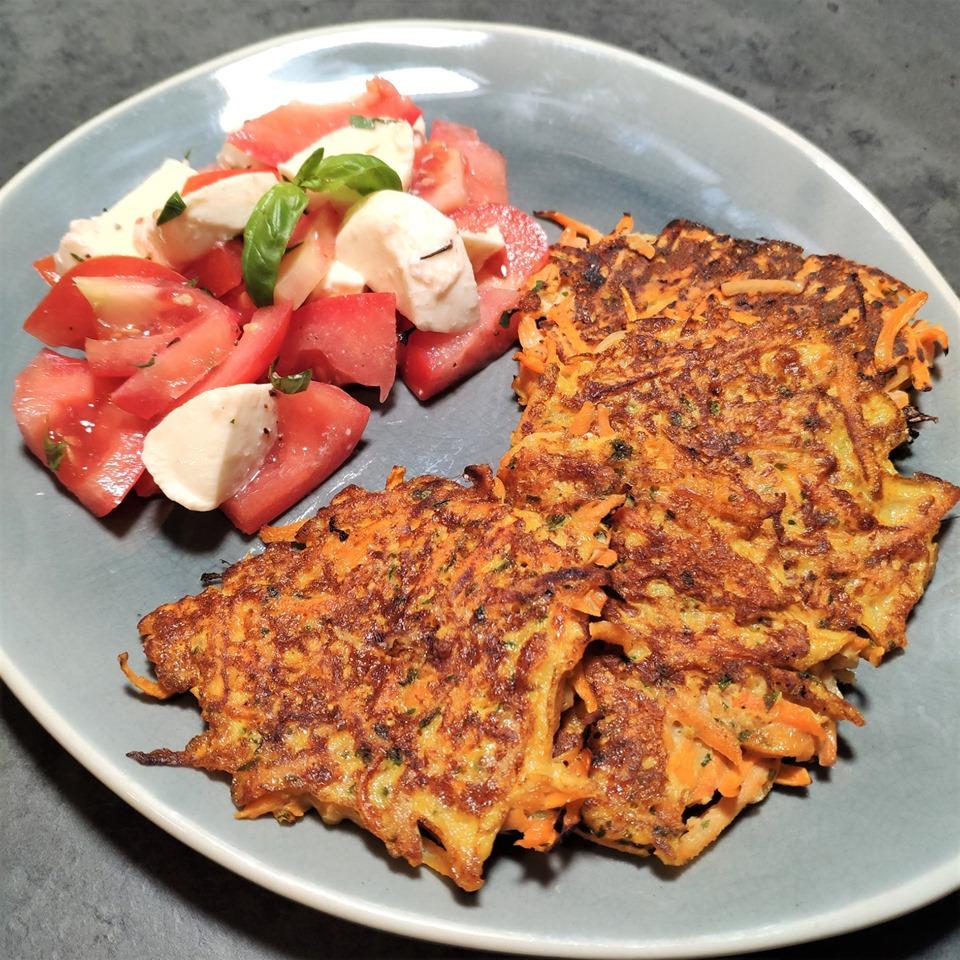 Galettes patate douce et carotte