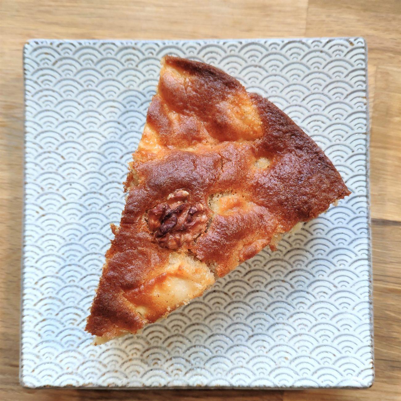 Gâteau pomme cannelle & noix